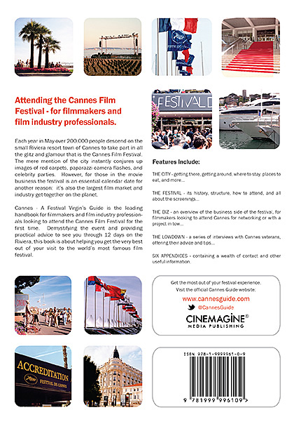Thumbnail of the back cover of Cannes - A Festival Virgin's Guide (7th Edition)