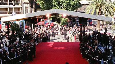 Image of red carpet and photographers